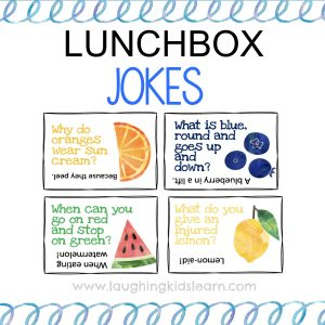 Lunchbox Jokes for kids to have in their lunchboxes and to enjoy at school or preschool