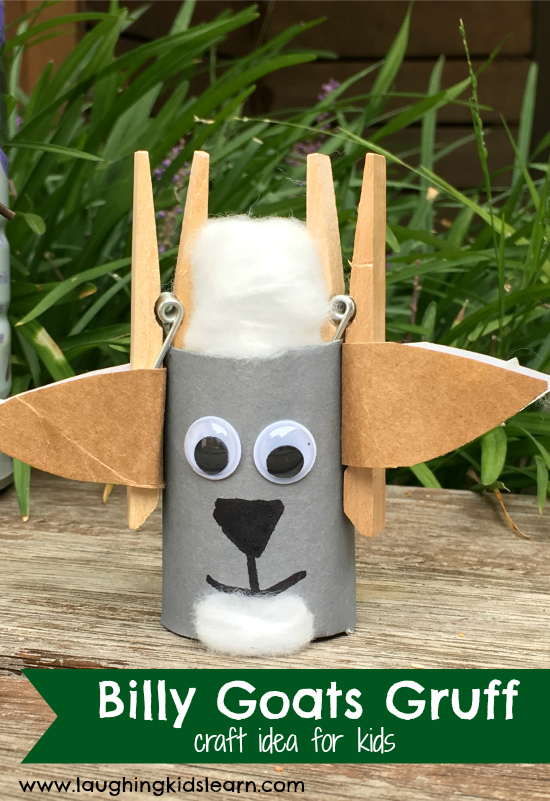 billy goats gruff craft idea for kids