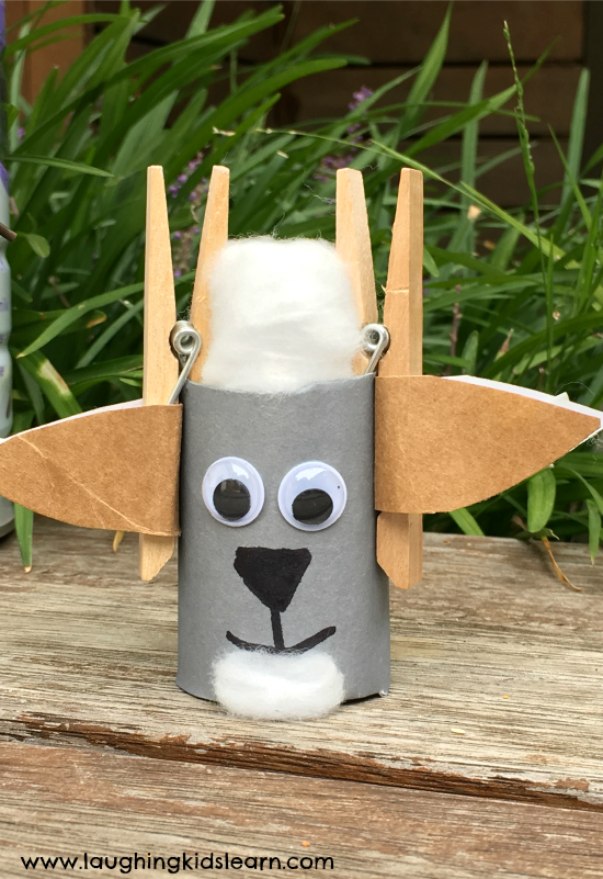 cardboard tube goat craft