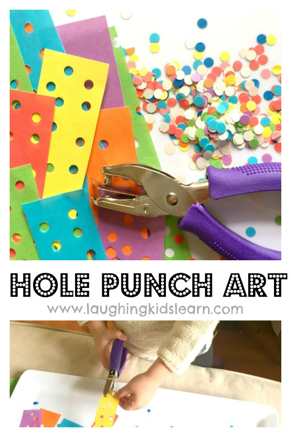 hole punch art idea for kids to make