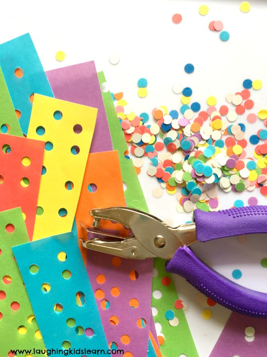 hole punch paper and confetti