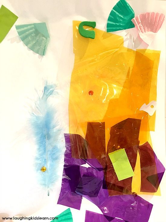 collage art by toddler