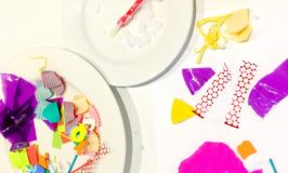 Simple cut and paste collage art activity for toddlers and preschoolers