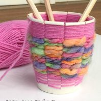 kids cup weaving craft gift idea