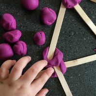 fun play dough and sticks