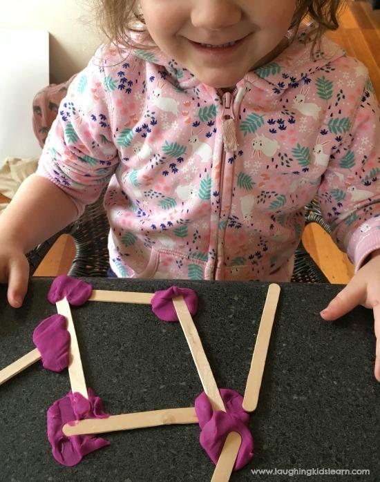 toddler fun making shapes