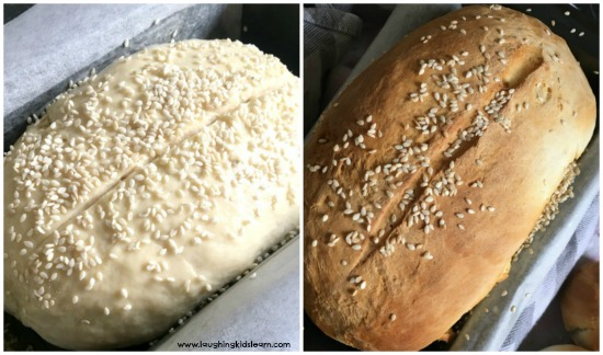 bread in a bag before and after