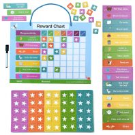 Magnetic reward chart for kids toddlers preschoolers and parents.