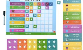 Magnetic reward chart for kids to use at home