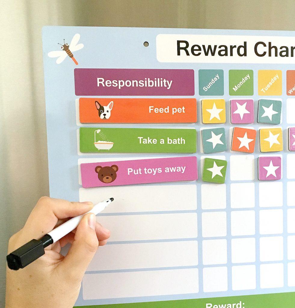 reward chart for kids with erasable magnetic pen