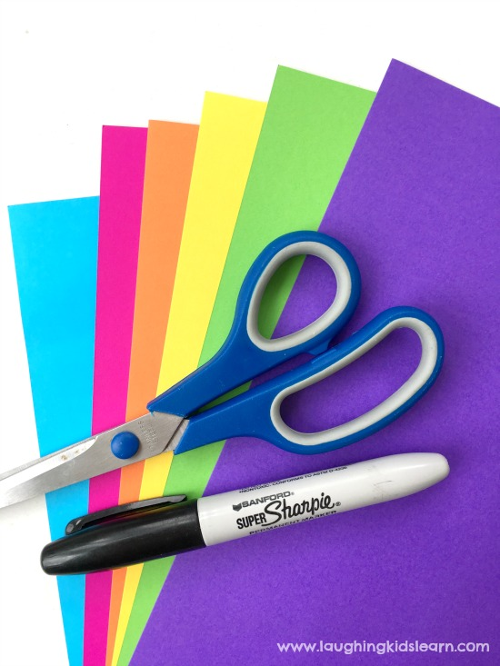 Coloured paper activity