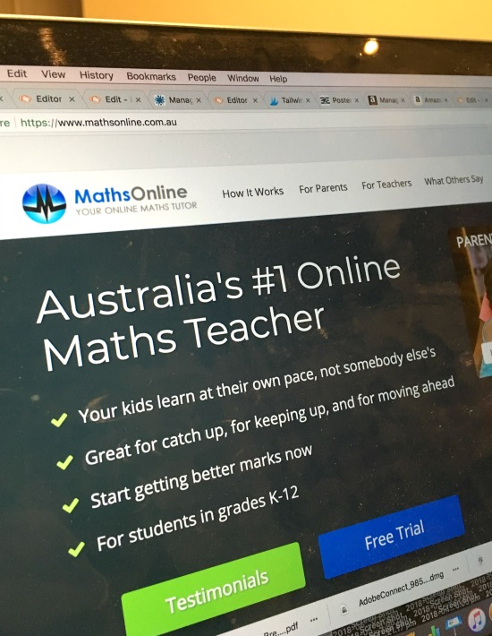 Maths Online computer so parents can support children in learning