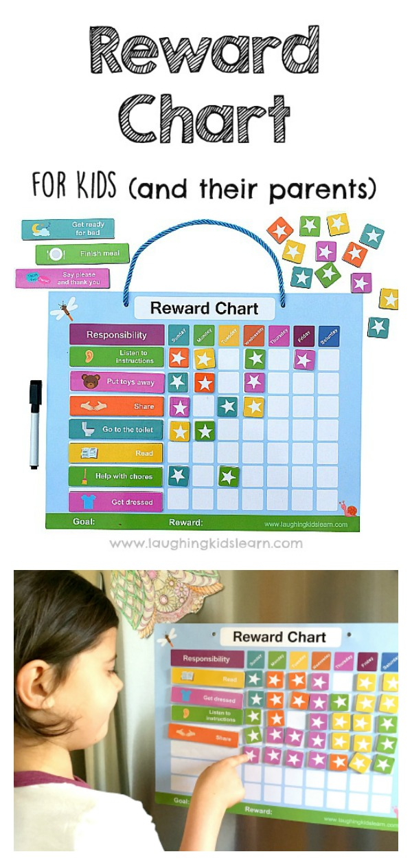 Reward Chart For Kids And Their Pas To Use At Home With Help Improve
