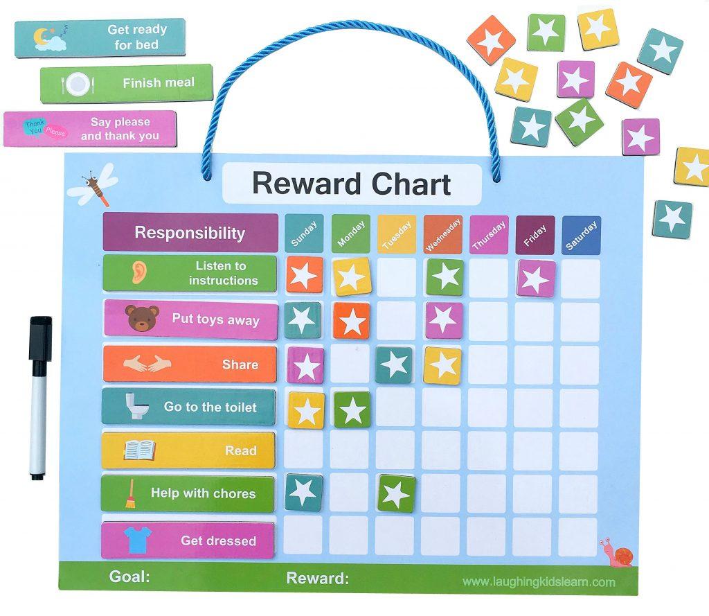 Magnetic reward Chart for kids