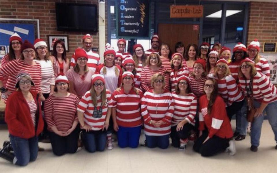 teacher group costume ideas wheres wally