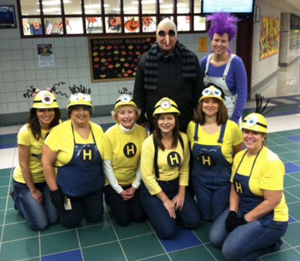teacher group costume ideas minions