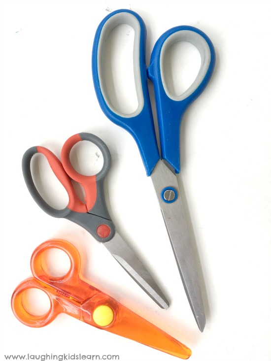 different types of scissors for kids to use