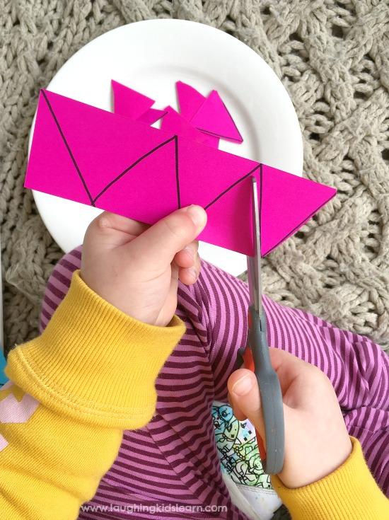 fine motor cutting idea for kids