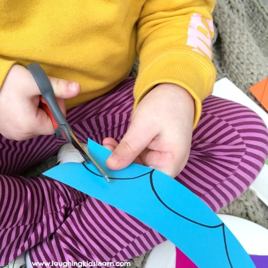 scissors practise fine motor control
