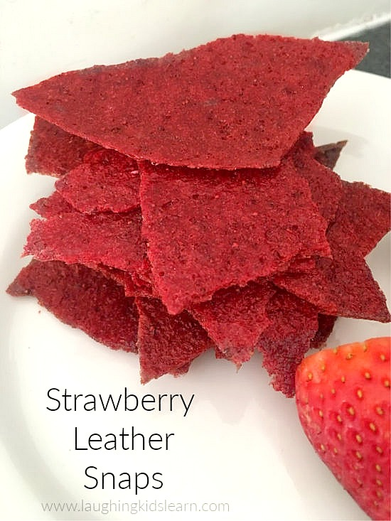 Strawberry Leather Snaps #strawberry #strawberryrecipe #strawberryleather #strawberryrecipes #kidscancook #kidsinthekitchen #summerrecipe #delicious #yumyum #simplerecipes #2ingredients #twoingredients #simpletomake #homemade #lunchboxideas #lunchbox #foodforkids #lunch #kidslunch