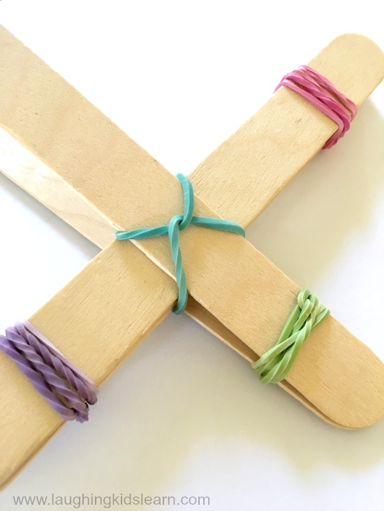 craft sticks rubber elastic bands