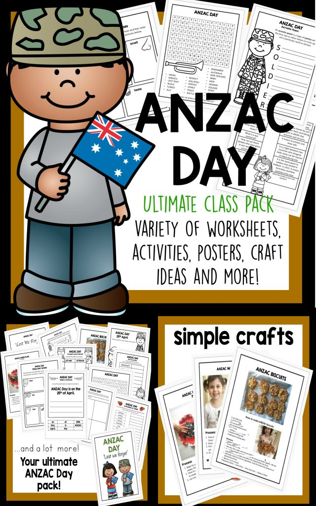 Anzac Day Activities And Craft Pack Laughing Kids Learn