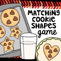 Matching cookie shapes game or activity
