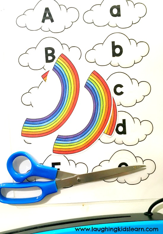 laminating teaching resources with rainbows and letters