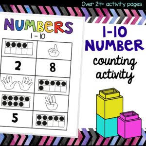 1-10 number counting activity cover