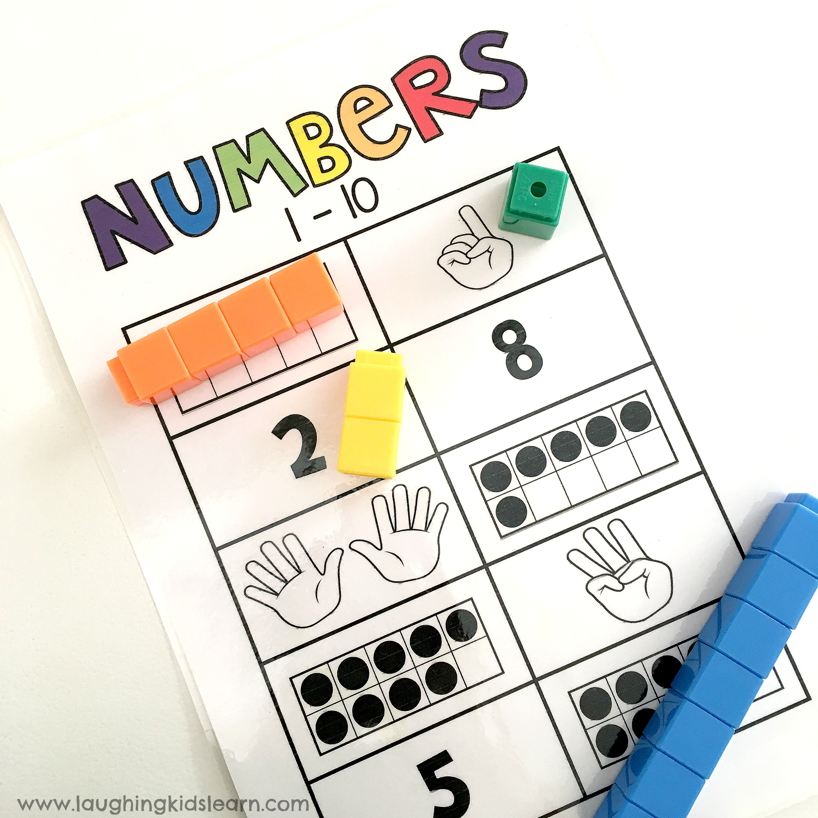 Number counting 1 - 10 activity pages - Laughing Kids Learn