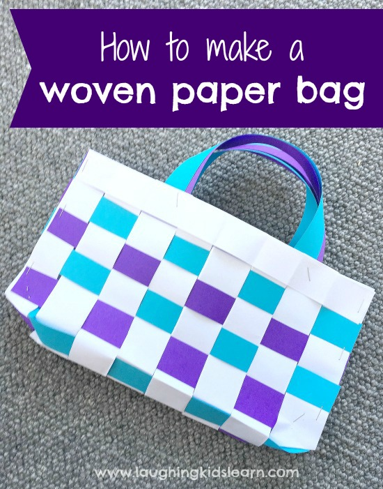 How to make a woven paper bag with kids is easy and a fun paper craft to do. Using basic materials, your children will love crafting paper bags and not stop at one. #papercraft #paperbag #preschool #school #campingactivities #camping #lovetomake #diybag #kidscrafts #lovetomake #waldorf #homeschooling #playathome #papercrafting #paper #makewithpaper