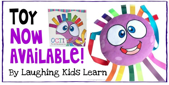 Toy now available by laughing kids learn this adorable fine motor plush toy is lots of fun and is educational.