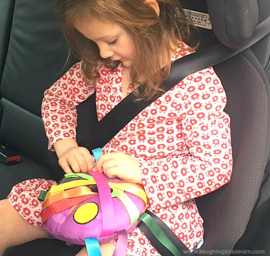 Play toy that children love to play with in the car. Great for fine motor development, concentration and more. The hook and loop straps, zips and buckle make this a great toy for children of all ages. #laughingkidslearn#finemotorskills #ots #ot #amazon #buckletoy #activitytoy #buckletoys #traveltoys #openendedtoys #sahm #toddlertoys #funfortoddlers #matchingcolors #besttoyforkids #finemotor #kbn #traveltoy #traveltoyforkids #lovetoplay #christmastoys #newtoys #busykids #activitiesforkids #kidsactivities #quiettoys #quiettoysforchurch #quiettoysforplane #toysfortwoyearolds #toysforthreeyearolds #toysforfouryearolds #toysforfiveyearolds #toysforpreschooler #blackfridaytoys #cybermondaytoys #toysfortoddlers