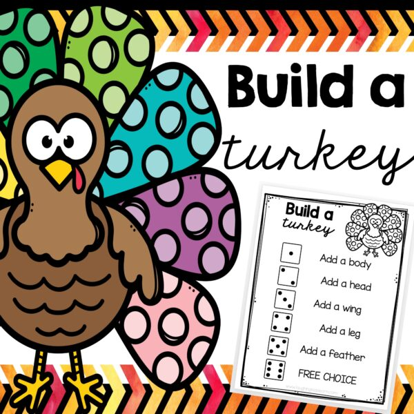 Build a turkey subitizing game for children to play over thanksgiving