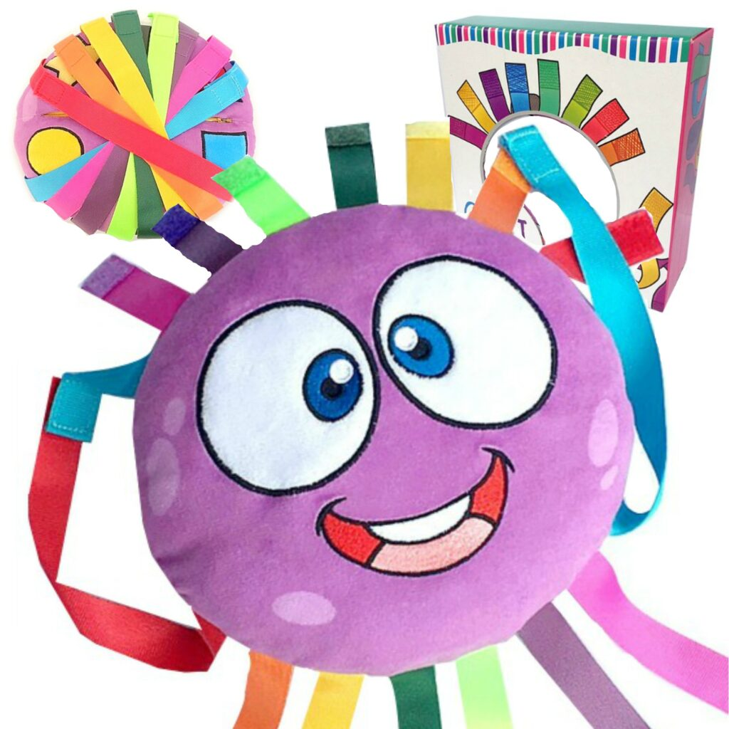 Octi is an octopus plush toy, first of it's kind. He is great for developing fine motor skills, creativity and more. He is a zip, grip and buckle toy for toddlers and children of all ages. #octi #buckletoys #interactivetoys #finemotorskills #finemotortoys #ots #ottools