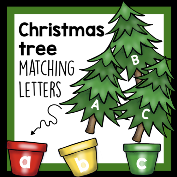 Christmas tree matching letters