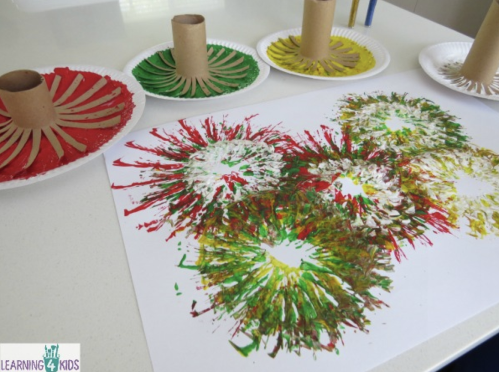 fireworks new year activity for toddlers and children