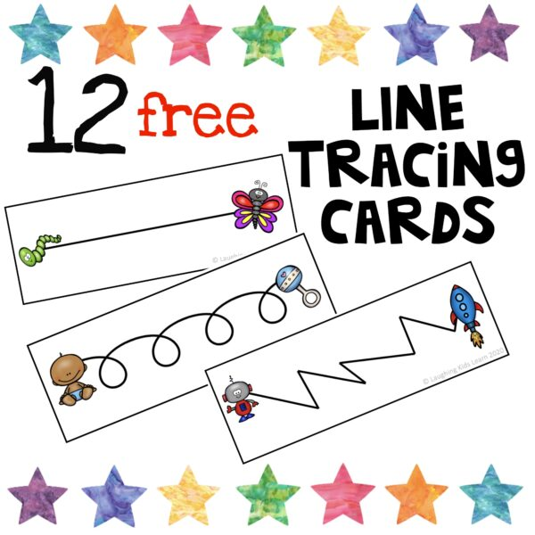 line tracing cards for pre-writers