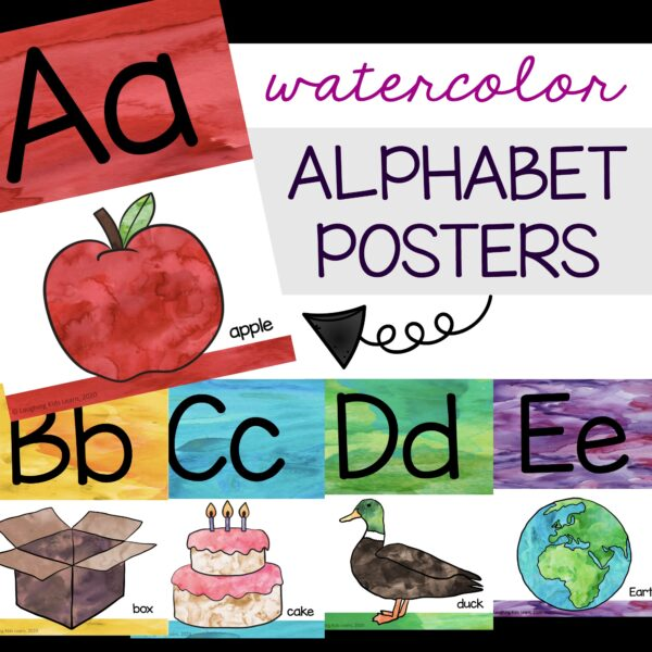 ABC alphabet posters and cards for kids