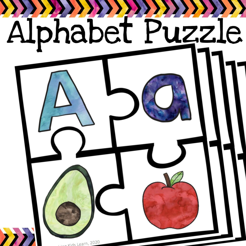This alphabet beginning sounds puzzle is sure to challenge your child to connect upper and lower case letters as well as match the sound to a variety of objects. #tpt #alphabetpuzzle #alphabetsounds #phonics #uppercase #lowercase #letters #learningsounds #literacycentre #literacycenter #foundation #prep #prepteachers #learnwithplay