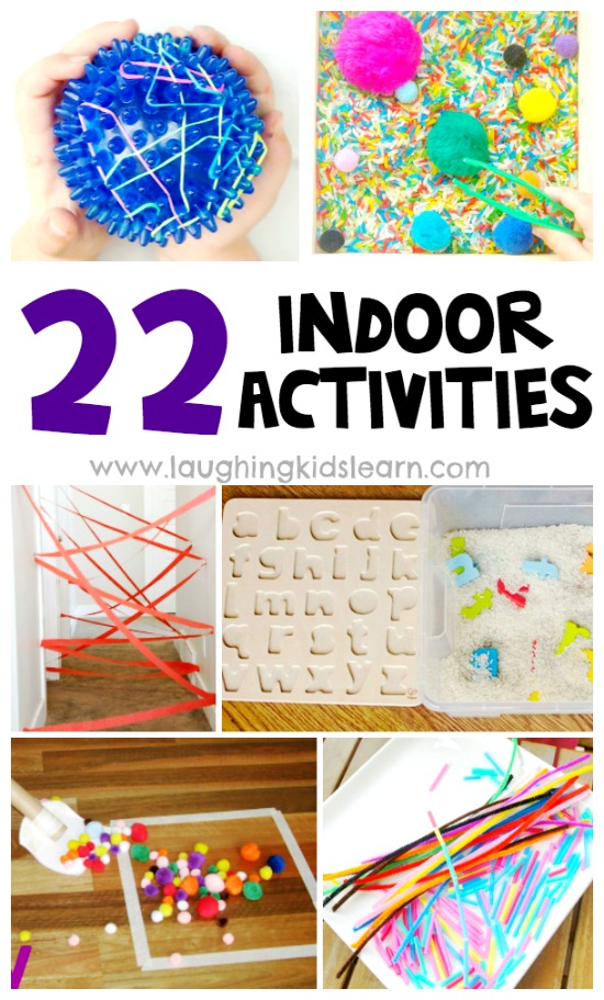 22 fun indoor activities for kids in home isolation or wanting to keep children entertained at home. #indooractivities #funindooractivities #homeideas #homeactivities #toddlerplayideas #toddlerplay #preschoolplayideas #busyathome #homeisolation