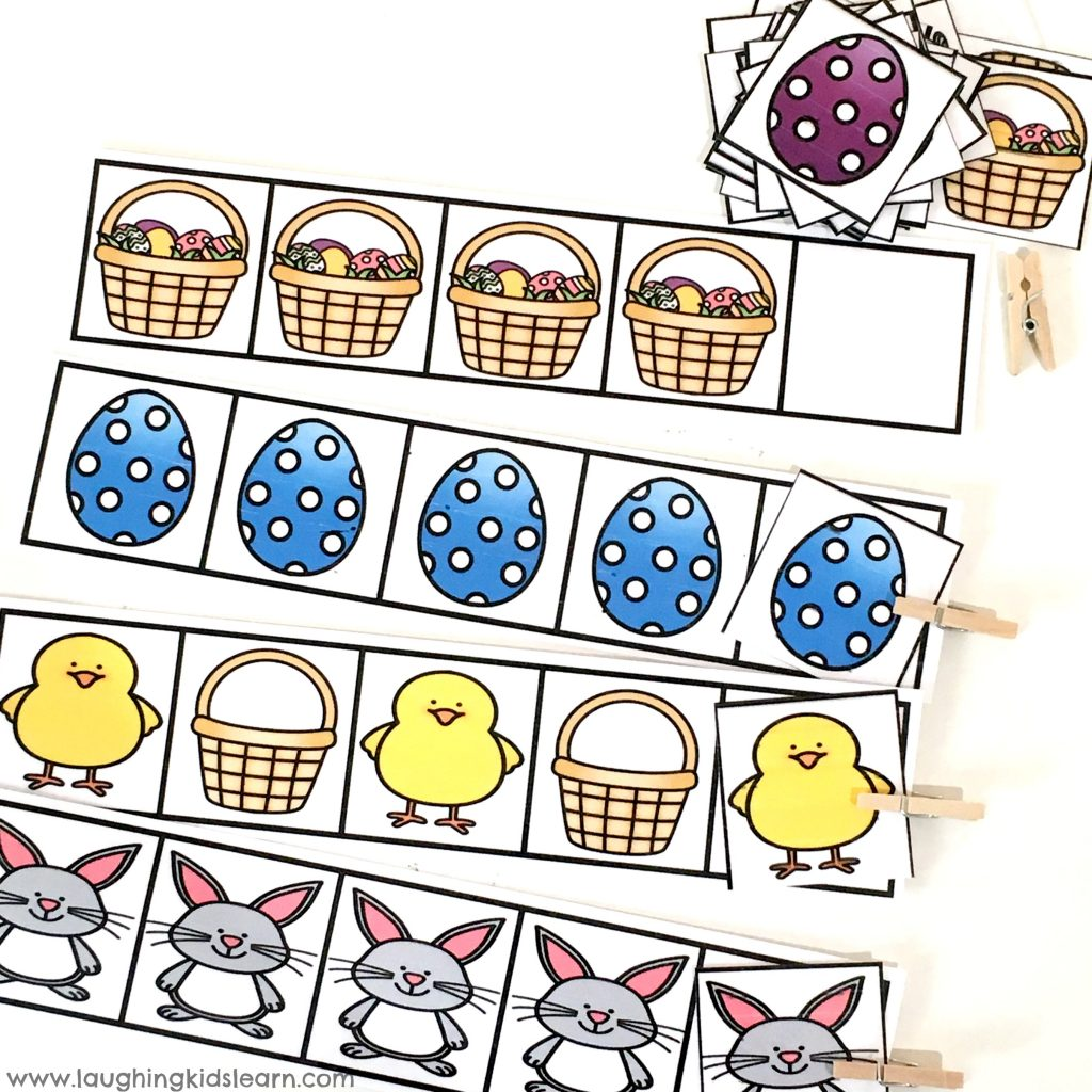 Fun Easter pattern cards for kids and preschoolers. great gift idea and gift alternative to giving chocolate. #eastergift #easter #eastergiftidea #easteractivities #easteractivity #eastergames #easterpuzzles #funforkids #eastercrafts #preschooleaster #patterncards #eastereggs #easterbunny #kbn #easterchocolatealternative