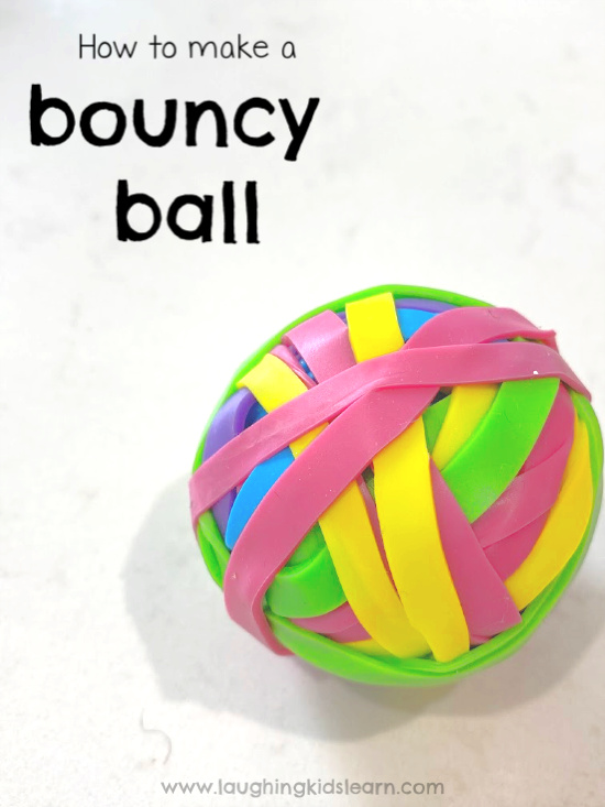 Here is instructions on how to make rubber bouncy balls that you can diy at home or as part of science. #science #bouncyball #rubberball #elasticball #madeelasticball #homemadetoys #rainbowtoy #rainbowcolors #lovetocraft #kidscraft #gravityscience #kidsphysics #rubberbounycball #diytoys #diytoy #indoorplay #indoorfun #isolationplay #rubberbands #scienceathome #schoolscience