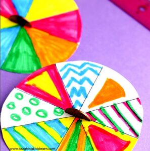paper plate craft spinners with penny