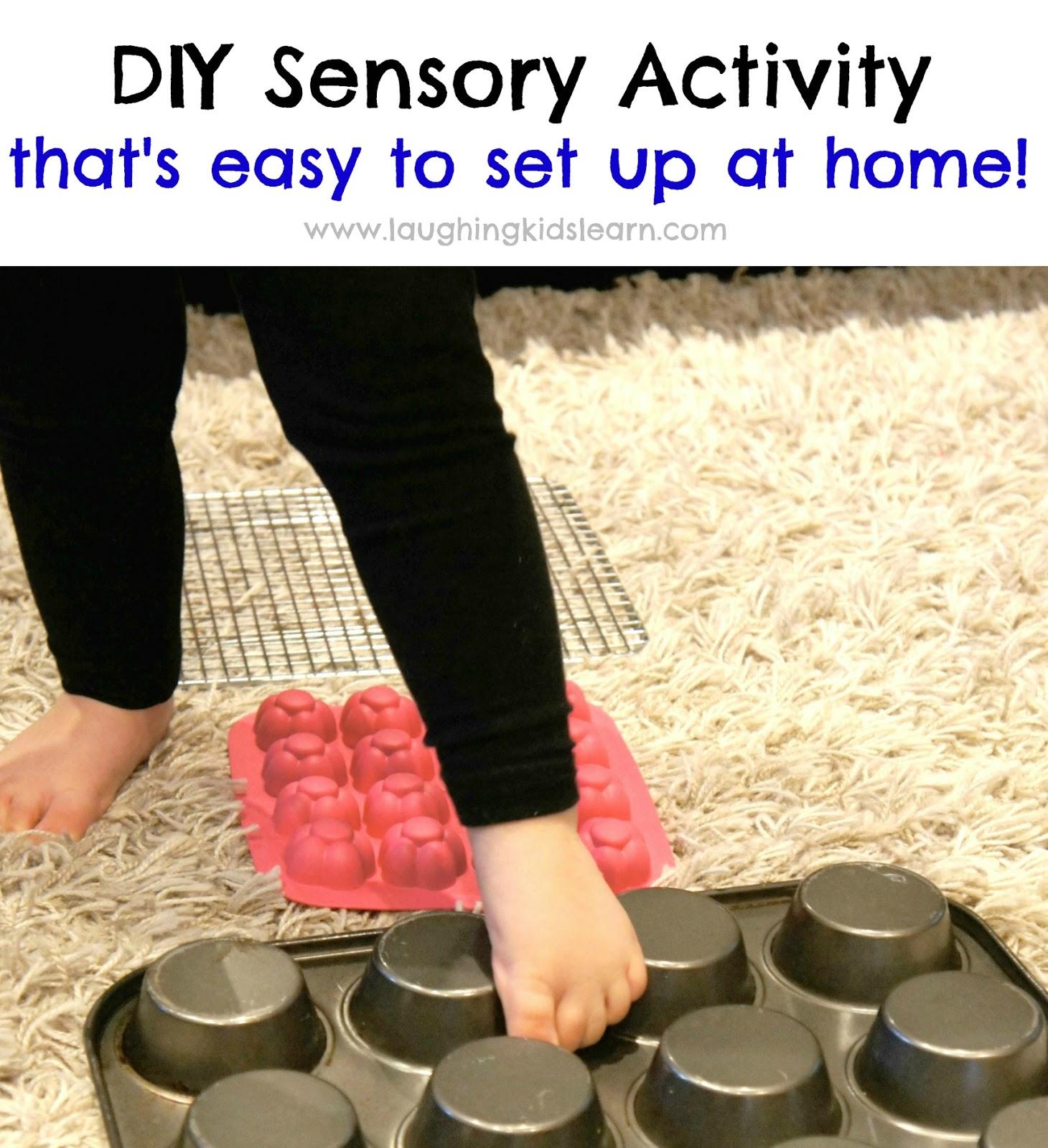 DIY Sensory Activity with easy home set