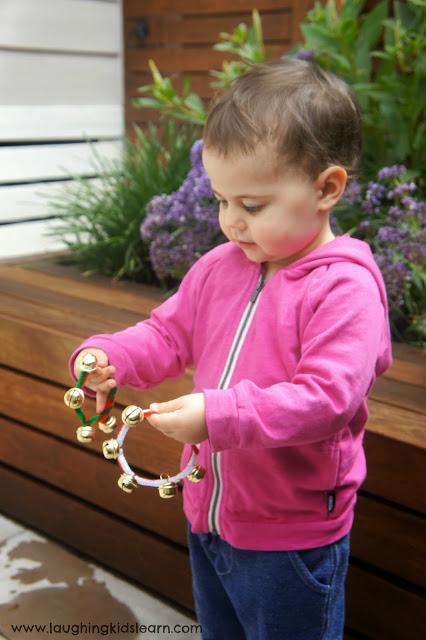 DIY simple Christmas sleigh bells By Laughing Kids Learn