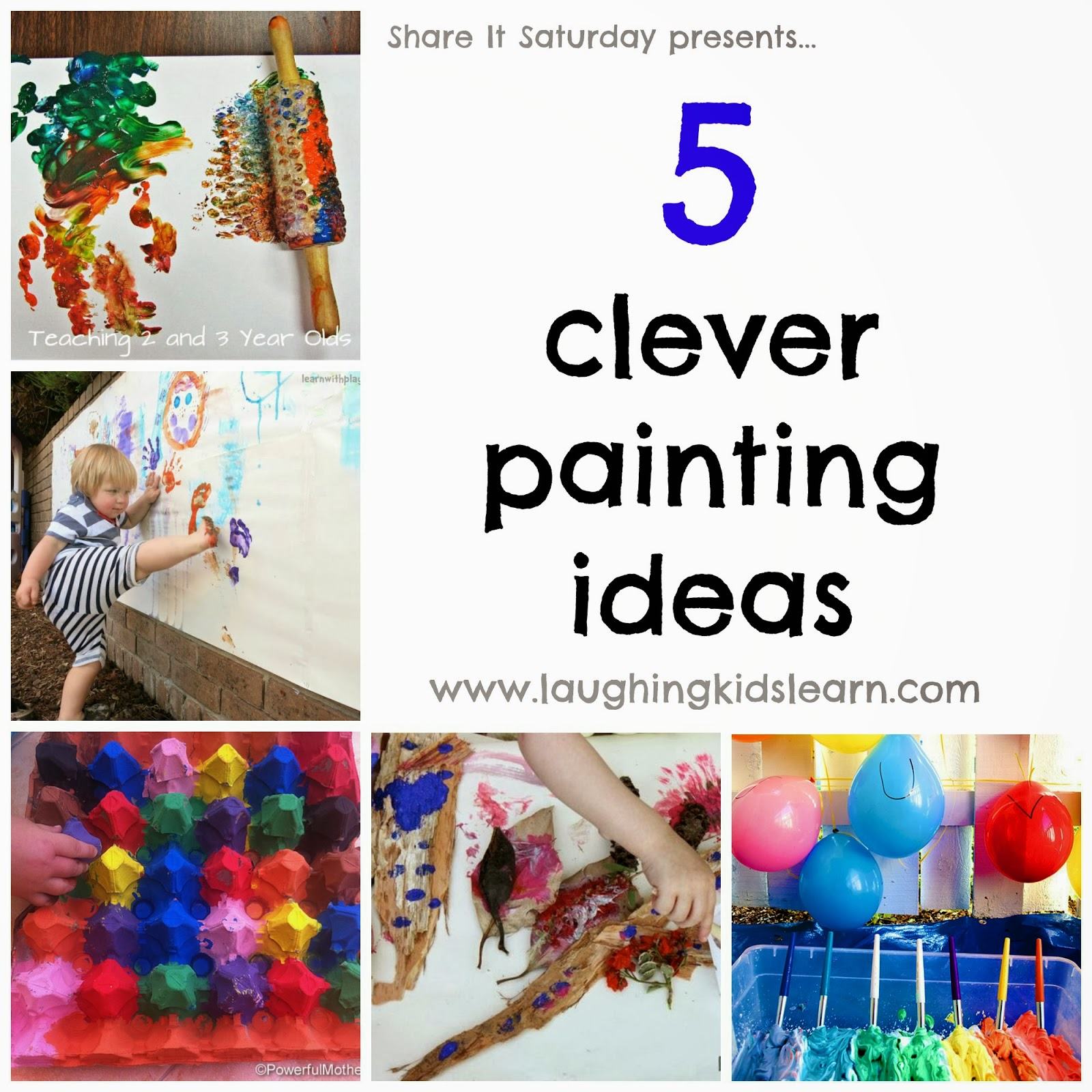 share it saturday 5 clever painting ideas presented by laughing kids learn - Painting Picture For Kids