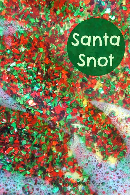 Christmas sensory fun with santa snot! Laughing Kids Learn