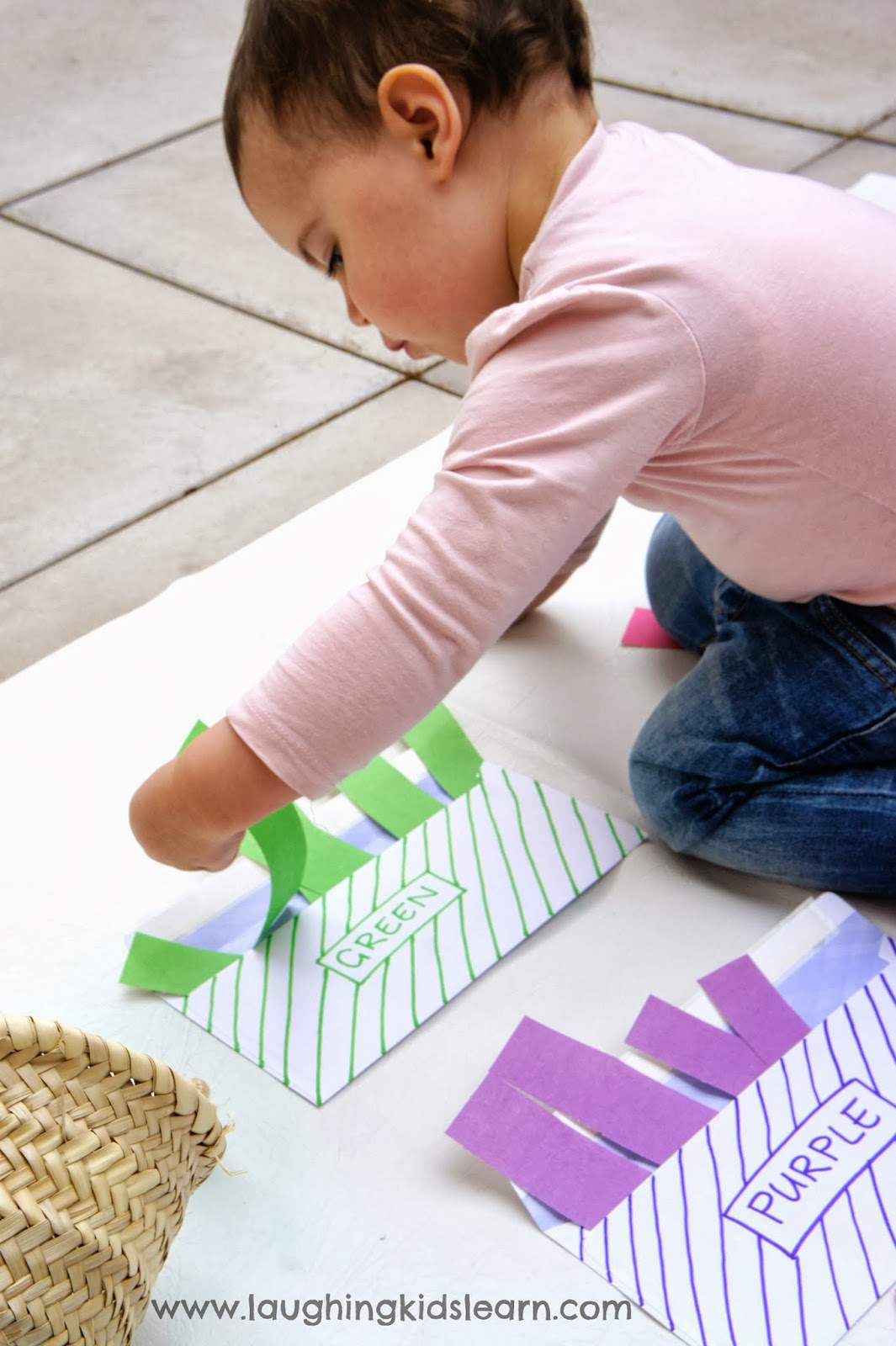 Colour Sorting Activity for Toddlers - Laughing Kids Learn
