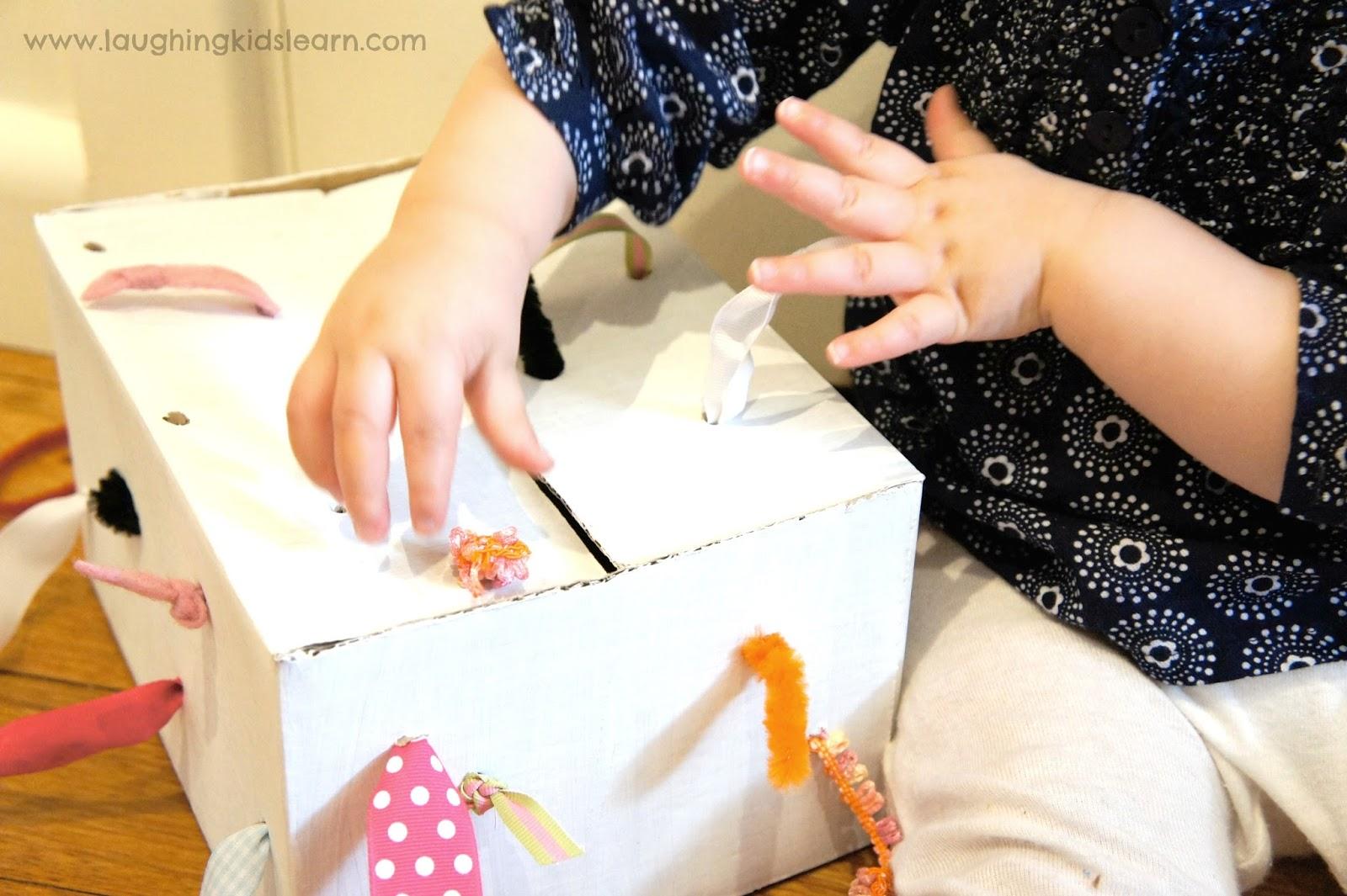 Diy Tugging Box For Fine Motor Development Laughing Kids